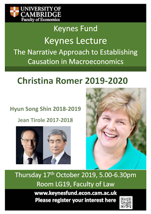 Keynes Lecture 2019-2020 Poster